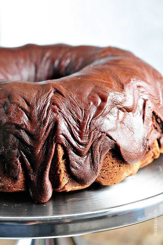Chocolate Pound Cake from @addapinch