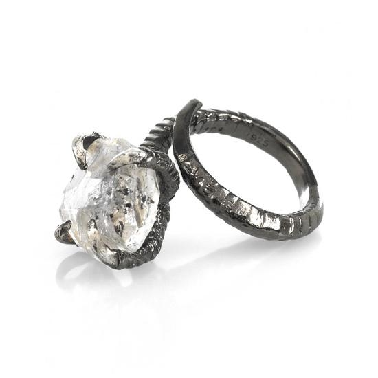 Bird Claw Herkimer Diamond Ring by Bjorg, Designer Collections Jewellery, Kabiri Jewellery Store Online