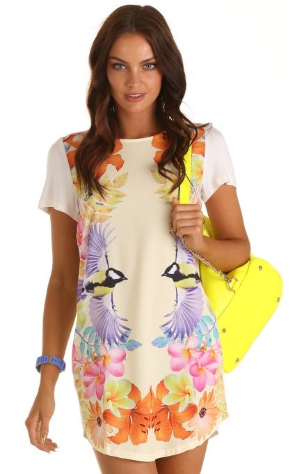 Day dresses > BIRDS OF PARADISE DRESS