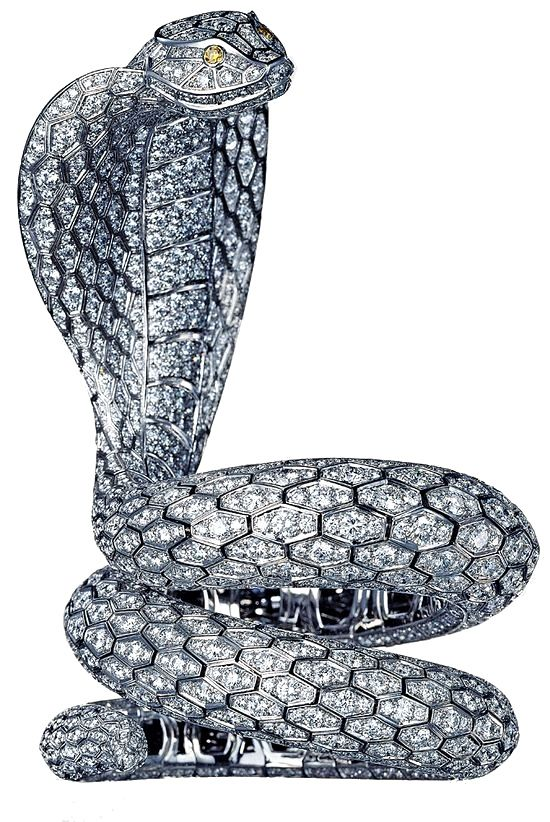Diamond Encrusted Cobra Bracelet from Cartier's Mysterious India High Jewelry Collection, Haute Tramp