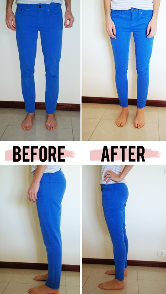 Fix skinny jeans (or any jeans) that are too big. A good thing to know if you lo