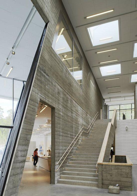 C R I B S U I T E #RealEstate #House #Home #Interior #Design  Artipelag Art gallery, Värmdö, 2012 #concrete #stairs