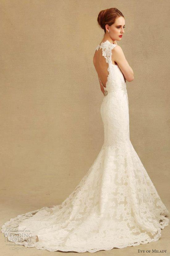 eve of milady wedding dresses fall 2013 eve muscio couture 4299 keyhole back