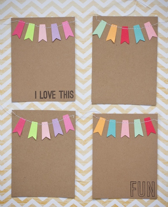 Cute Pennant Garland Journal cards for #projectlife