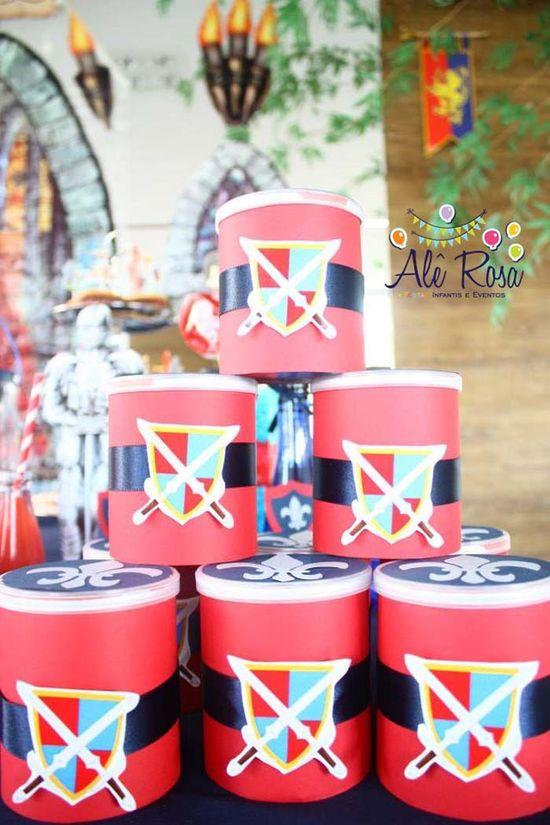 Knight Themed Birthday Party via Kara's Party Ideas #ideas #supplies #idea #decorations #knight #medieval #prince