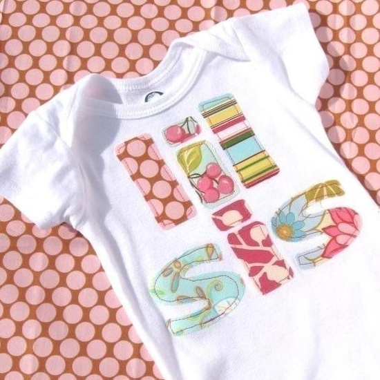 Little Sister onesie lil sis bodysuit by easyedges on Etsy, $18.00
