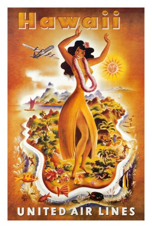 United Airlines - Hawaii Poster