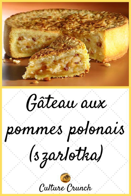 Gâteau aux pommes polonais Szarlotka