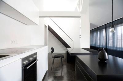 :: KITCHENS :: INTERIORS :: simple black & white #kitchens #interiors