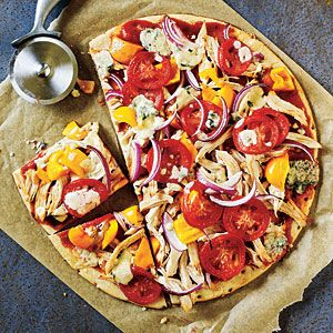 How to Make Superfast BBQ Chicken and Blue Cheese Pizza
