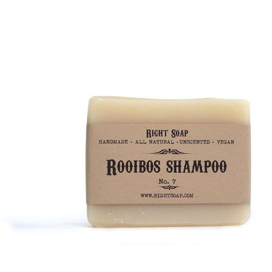 Rooibos Soap Shampoo All Natural soap Unscented Soap by RightSoap