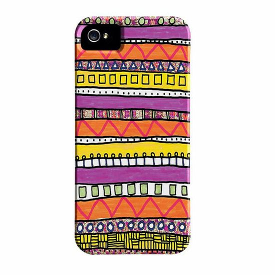 Colorful iPhone 5 Case or iPhone 4 Case, Geometric, Artsy iPhone Case, designer iPhone 4S case
