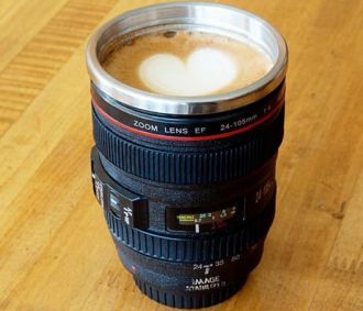 Camera Lens Coffee Mug (Set of 2) – this would make a fantastic Father's Day