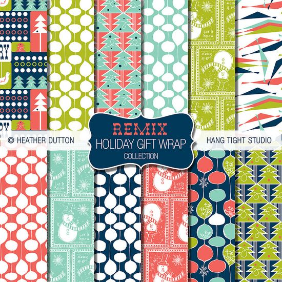 Remix Holiday Gift Wrap Collection