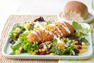 Crispy Chicken Mexicali Salad recipe - Trying to stick to your healthy eating plan but really want some crispy chicken? You're in luck. This flavor-filled salad lets you enjoy the crunch smartly.