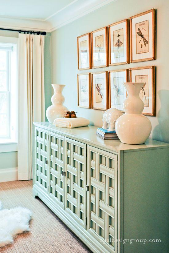 mint walls + cabinet