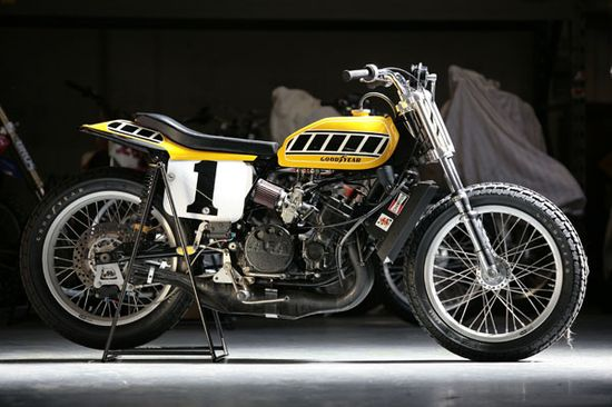 Kenny Roberts 1975 Indy Mile winning TZ750 - via Cafe Racer Dreams