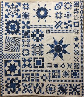 Blue and Whilte Sample Quilt