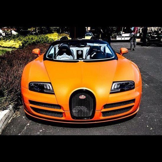 Orange Bugatti Veyron Grand Sport