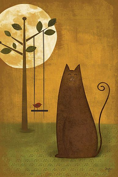 Cat Tails II by Mollie B poster   ArtFuzz