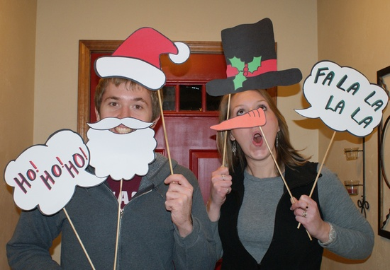 We totally did the photobooth thing this year at Christmas!  It was a hit!!!  This photo links to the scans of the props.