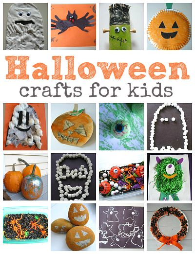 Halloween crafts for kids .