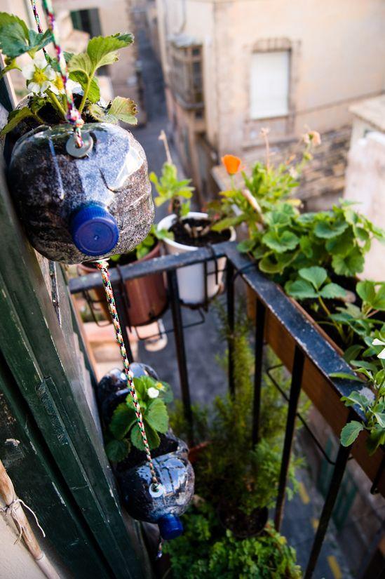 huerto urbano vertical reciclado