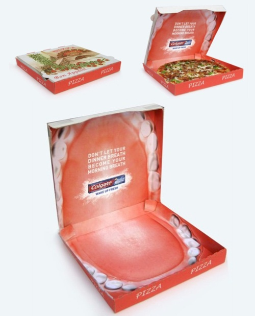 Colgate Advertising: Creative Pizza Packaging Ad
