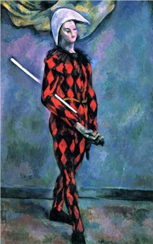 Harlequin  – Paul Cezanne – 1890