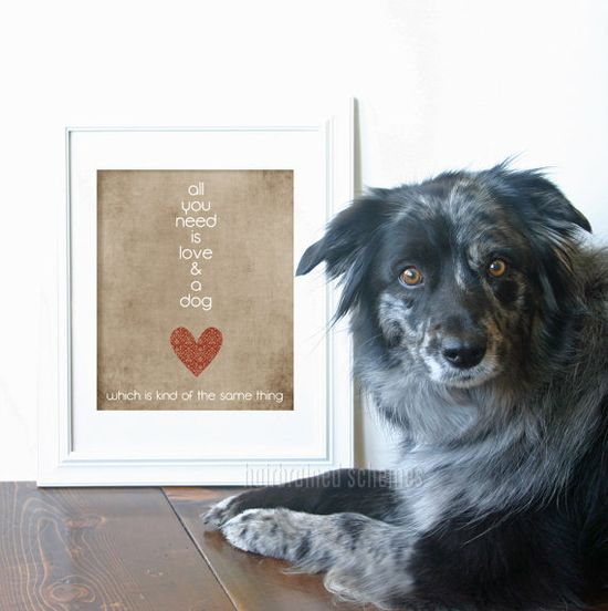 Digital Art Print All You Need is Love and a by hairbrainedschemes, $15.00
