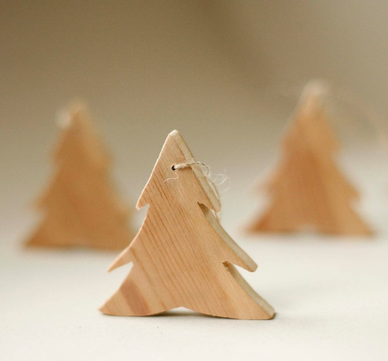 Handmade Christmas Ornament - Recycled Timber Tree.