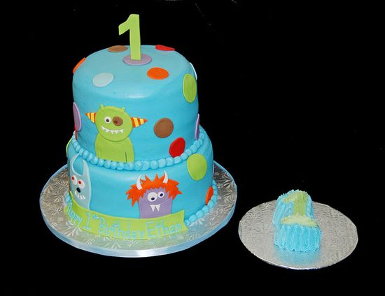 monster themed 1st birthday cake by Simply Sweets, via Flickr
