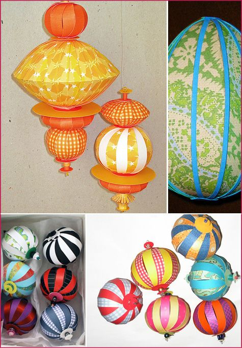 Handmade DIY Paper Ornaments Christmas