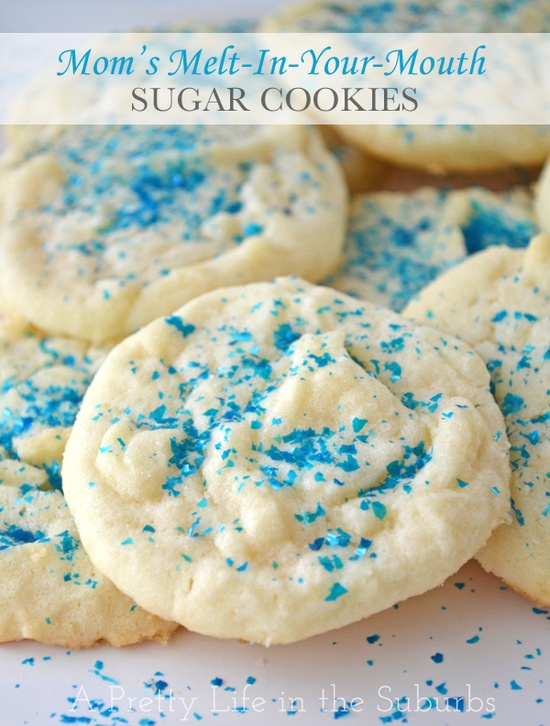 Sugar Cookies - I made these with the kids the other night (11 Dec 12). They are amazing! They taste like a cross between a shortbread and sugar cookie. The texture is perfectly soft.  Definitely up there with my favourite Christmas cookies.