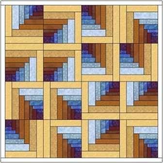 Log Cabin Tunnels Quilt Pattern - #Cabin #Log #log... - #Cabin #Log #logcabins #pattern #Quilt #Tunnels