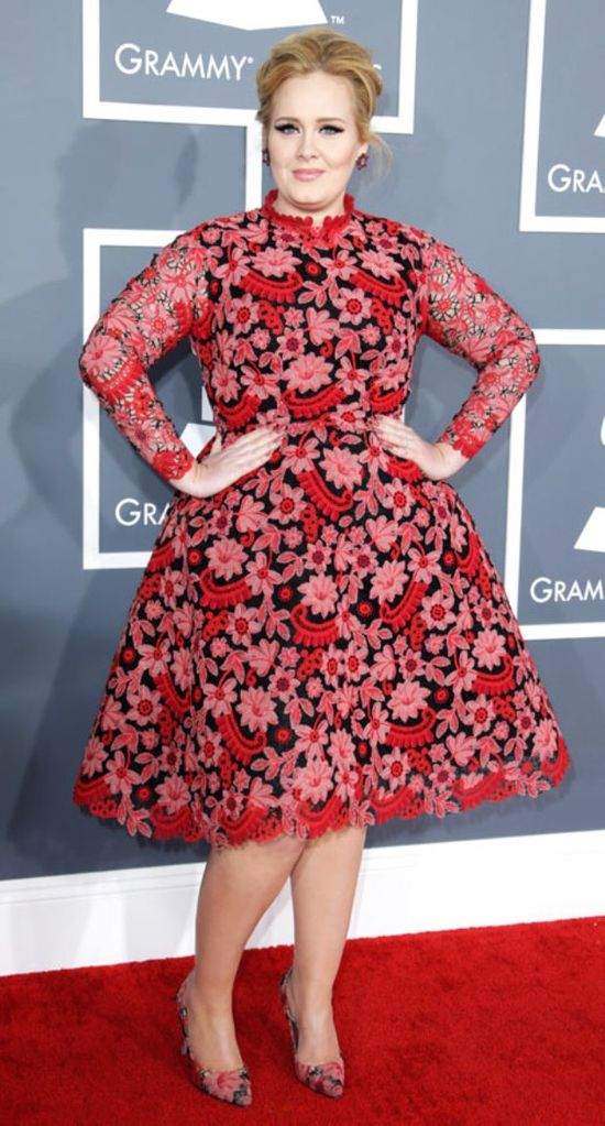 Celebrities in Valentino Gowns ... Adele