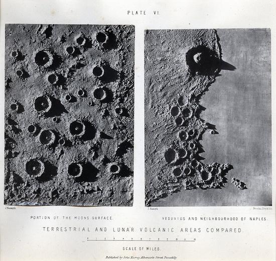 James Carpenter & James Nasmyth, Terrestrial And Lunar Volcanic Areas Compared, 1874