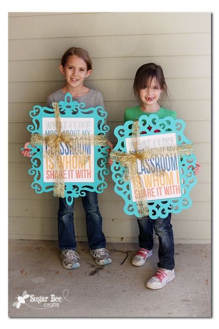 Craft It Forward, #RAOKDIY - - easy frames for teacher gifts