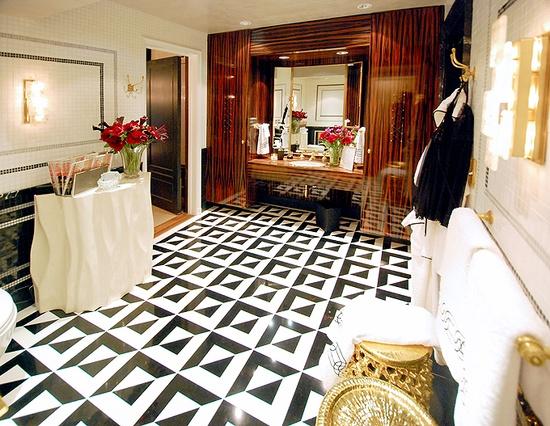 Fabulous black and white floors