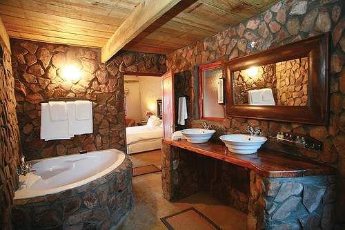 fancy rustic bathroom