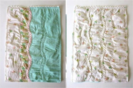 Simple Handmade Gifts – pillowcase to doll blanket