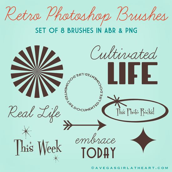 Free Photoshop Brushes – A Vegas Girl at Heart #projectlife