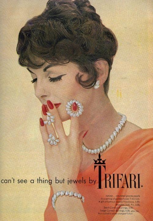 Stylish Trifari Jewelry Ad