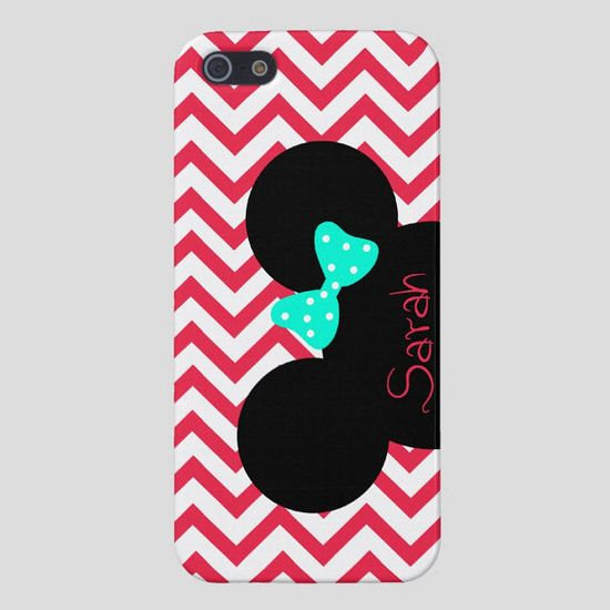 Minnie Mouse iPhone Case, iPhone Cover Disney,Personalized iPhone 4 Case, iPhone 5 Case, Disney iPhone 4S Case,