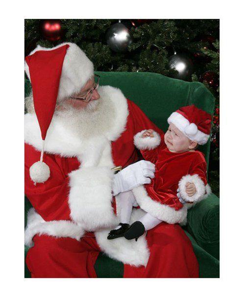 Funny Photos With Santa: Baby santa outfit