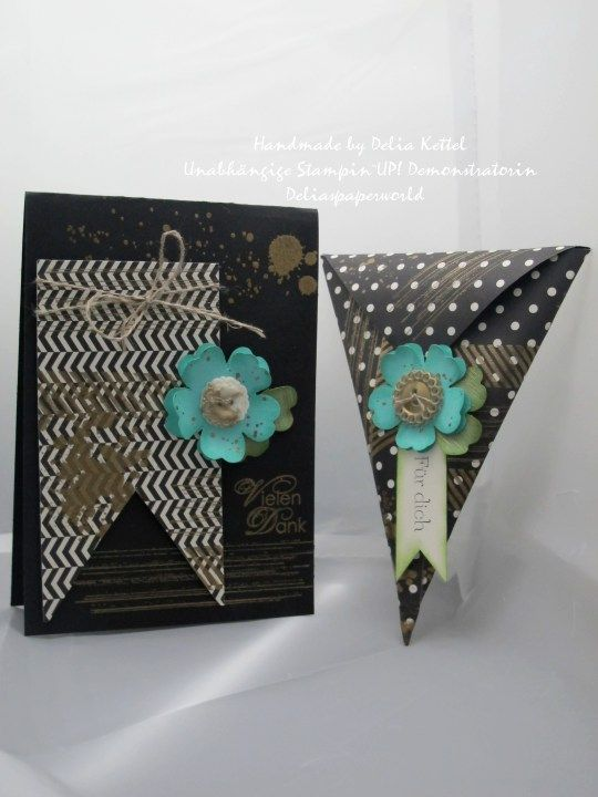 Stampin`UP! Black & White meets Gold