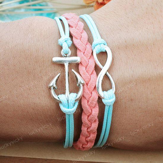 Infinity BraceletInfinity karma braceletAnchor by luckyvicky, $6.99