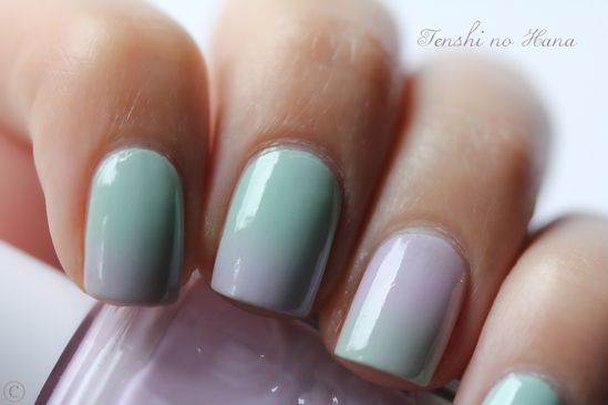 How is this ombre so smooth? #nailart #pastels