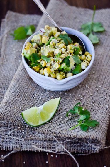 Asian Corn and Avocado Salsa / Scaling Back #recipes