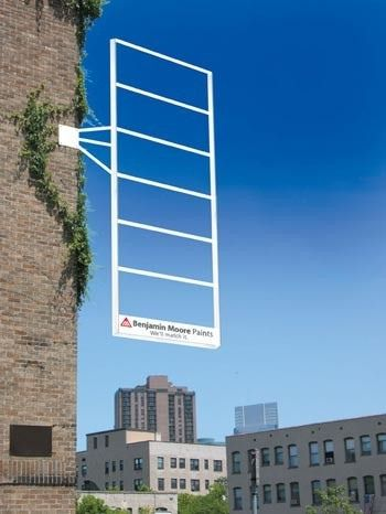 this is an awesome outdoor ad for benjamin moore. so creative!